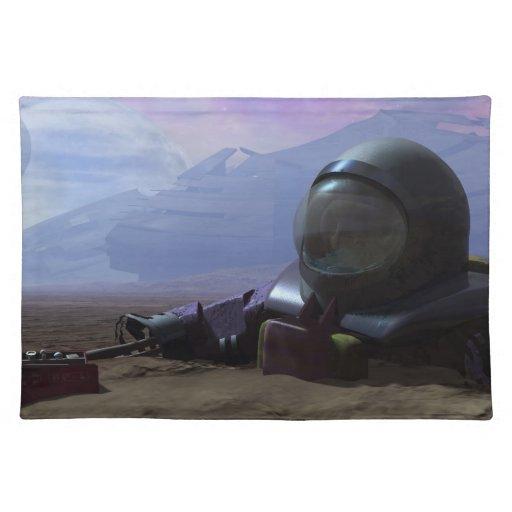 Dead Astronaut Cloth Place Mat