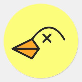 dead bird. classic round sticker