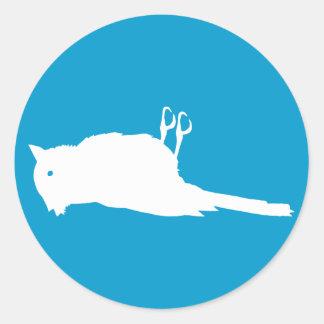 Dead Bird Roadkill Graphic Classic Round Sticker