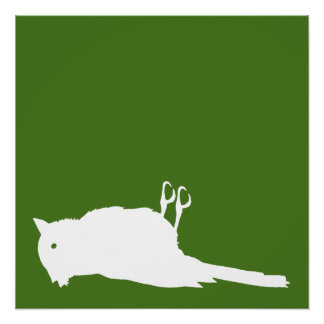 Dead Bird Roadkill Graphic Poster