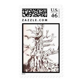 Dead Bristle Cone Pine Tree Postage Stamps