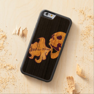 Dead but alive carved cherry iPhone 6 bumper case