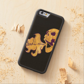 Dead but alive carved maple iPhone 6 bumper case