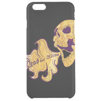 Dead but alive clear iPhone 6 plus case