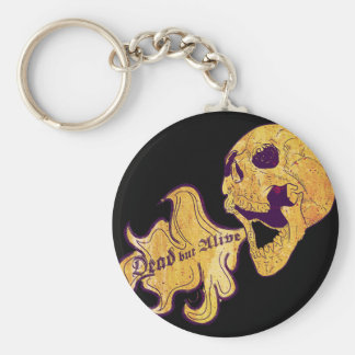 Dead but alive keychain