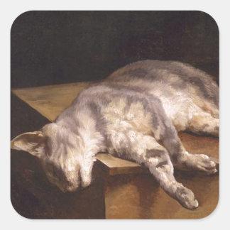 Dead Cat by Theodore Gericault Square Sticker