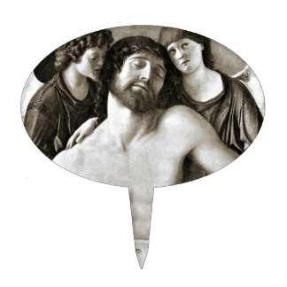Dead Christ Between Two Angels by Giovanni Bellini Cake Topper