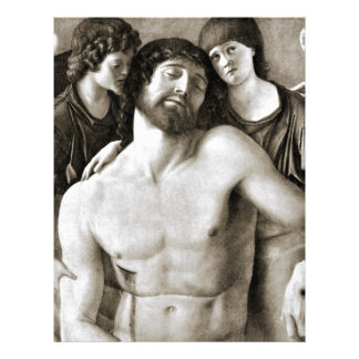 Dead Christ Between Two Angels by Giovanni Bellini Letterhead