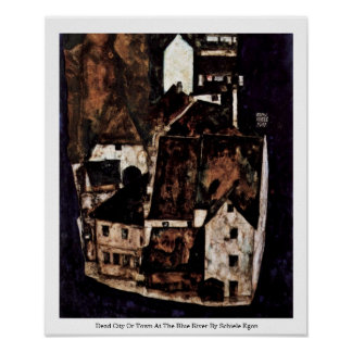 Dead City Or Town At The Blue River Print