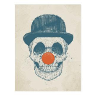Dead clown postcard