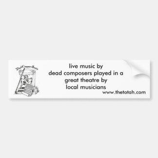 Dead Composer's Society Bumper Sticker
