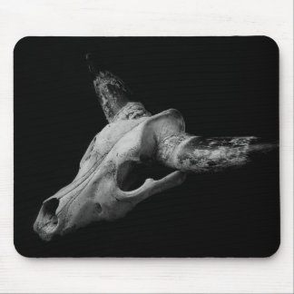 Dead cow skull mousepad