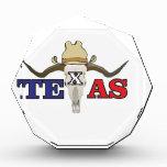 dead cowboy texas acrylic award
