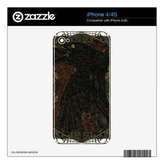 Dead Crow iPhone 4S Decal