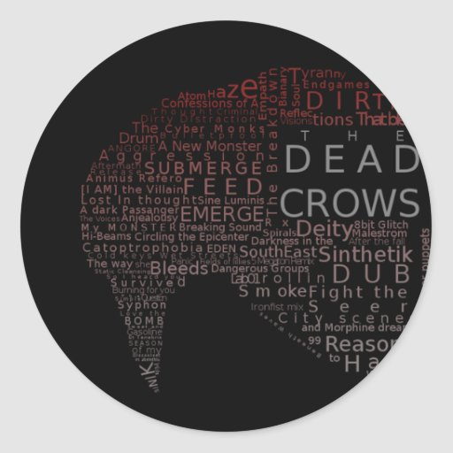 Dead Crows Typography Sticker