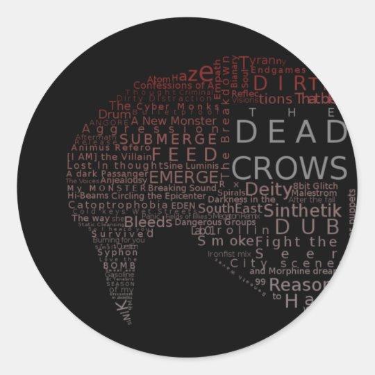 Dead Crows Typography Sticker
