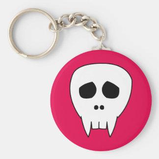 DEAD CUTE Vampire Skull Basic Round Button Keychain