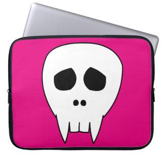 Dead Cute Vampire Skull Laptop Sleeve