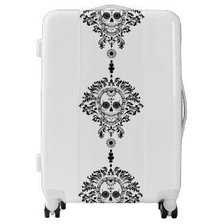 Dead Damask Bold Black Sugar Skulls Luggage