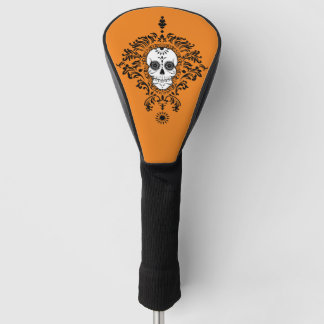 Dead Damask Chic Black Sugar Skull Golf Cover