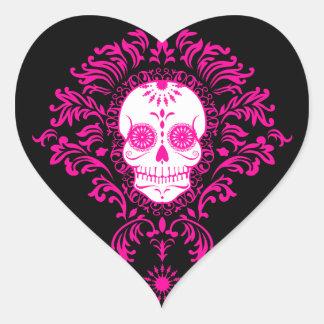Dead Damask - Chic Sugar Skull Heart Stickers