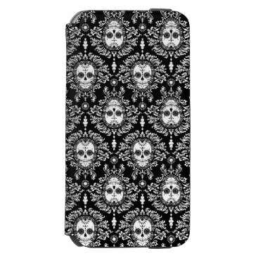 creativetaylor Dead Damask - Chic Sugar Skull Pattern iPhone 6/6s Wallet Case