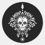 Dead Damask - Chic Sugar Skull Stickers at Zazzle