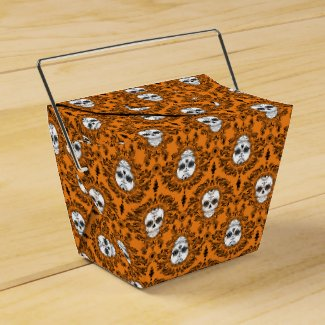 Dead Damask - Chic Sugar Skull Takeout Boxes