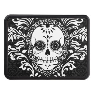 trailer hitch covers towing hitch covers zazzle Ford Trailer Tow Hitch Covers dead damask chic sugar skull trailer hitch tow hitch cover