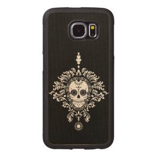 Dead Damask - Chic Sugar Skull Wood Phone Case