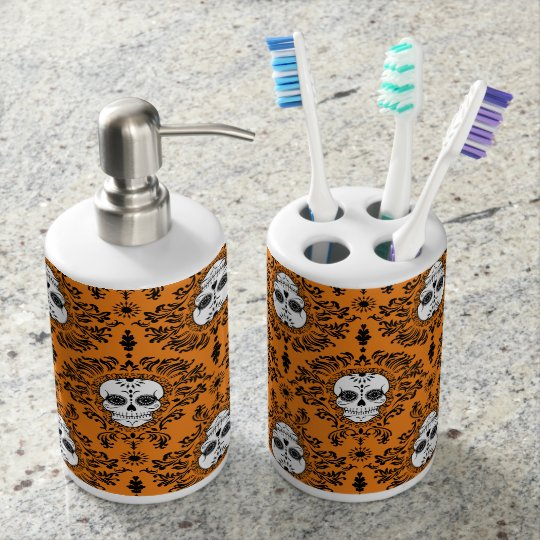 Dead Damask Chic Sugar Skulls Bath Set