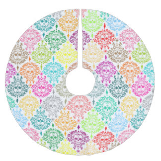 Dead Damask - Chic Sugar Skulls Brushed Polyester Tree Skirt