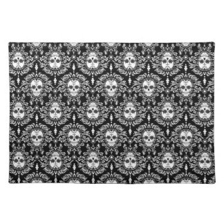 Dead Damask - Chic Sugar Skulls Cloth Placemat