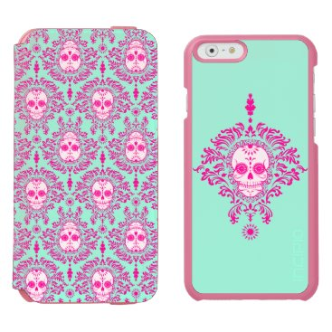 creativetaylor Dead Damask - Chic Sugar Skulls iPhone 6/6s Wallet Case