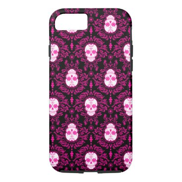 creativetaylor Dead Damask - Chic Sugar Skulls iPhone 7 Case