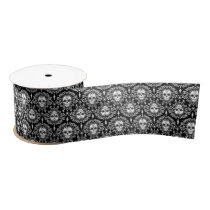 Dead Damask - Chic Sugar Skulls Ribbon