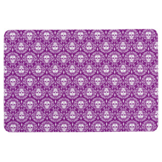 Dead Damask Chic Sugar Skulls Violet Floor Mat