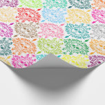 Dead Damask - Chic Sugar Skulls Wrapping Paper at Zazzle