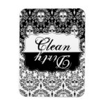 Dead Damask - Clean / Dirty Kitchen Magnet