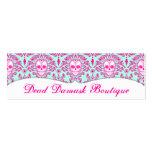 Dead Damask - Custom Skinny Sugar Skull Bizcards Mini Business Card