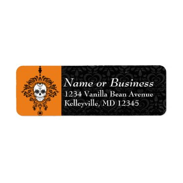 Professional Business Dead Damask - Custom Sugar Skull Address Labels