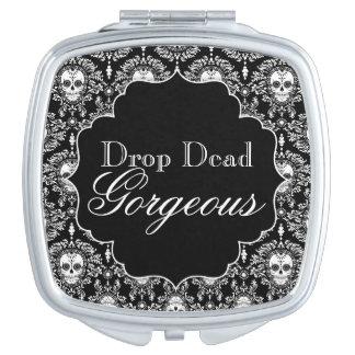 Dead Damask - Custom Sugar Skull Compact Mirror