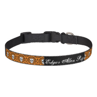 Dead Damask - Custom Sugar Skull Dog Collar