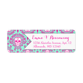 Dead Damask - Custom Sugar Skull Return Address Label