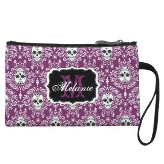 Dead Damask Sugar Skull Monogram and Name Mini Bag