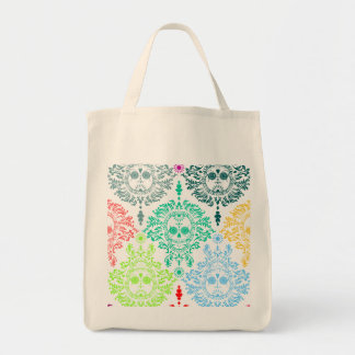 Dead Damask Sugar Skull Tote Bag