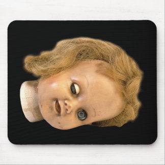 DEAD DOLL HEAD MOUSEPAD