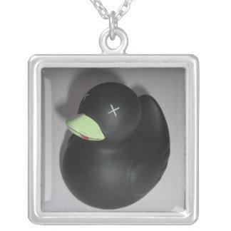 Dead Duck Square Pendant Necklace