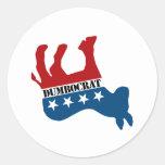 Dead Dumbocrat Round Sticker