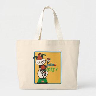 Dead Ed Jester's Wild & Crazy Tote Bags